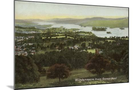 Windermere from Orrest Head, Lake District--Mounted Photographic Print
