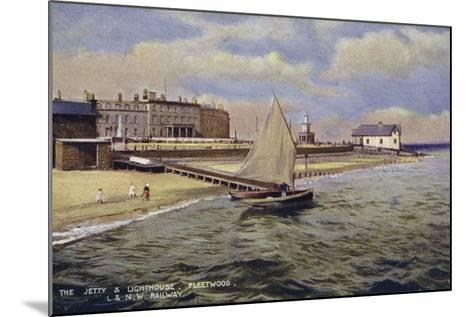 The Jetty and Lighthouse, Fleetwood--Mounted Photographic Print