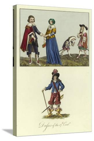 Dresses of the 17th Century--Stretched Canvas Print