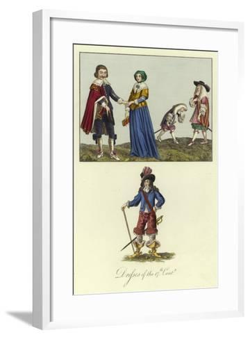 Dresses of the 17th Century--Framed Art Print