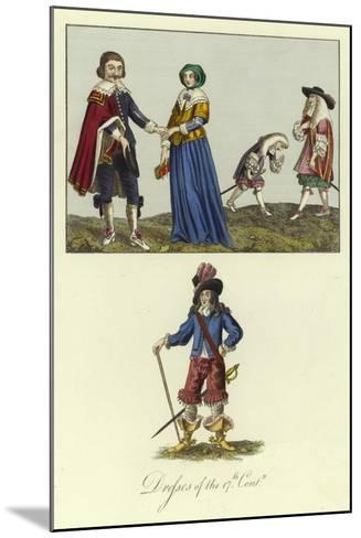 Dresses of the 17th Century--Mounted Giclee Print