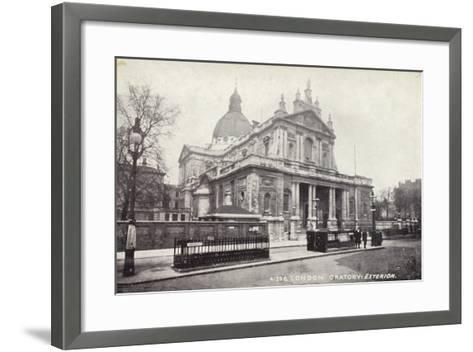 London Oratory: Exterior--Framed Art Print