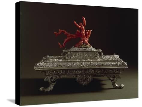 Silver and Coral Writing Casket, 16th Century--Stretched Canvas Print