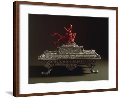 Silver and Coral Writing Casket, 16th Century--Framed Art Print