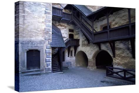 Courtyard of Orava Castle, Oravsky Podzamok, Zilina, Slovakia--Stretched Canvas Print