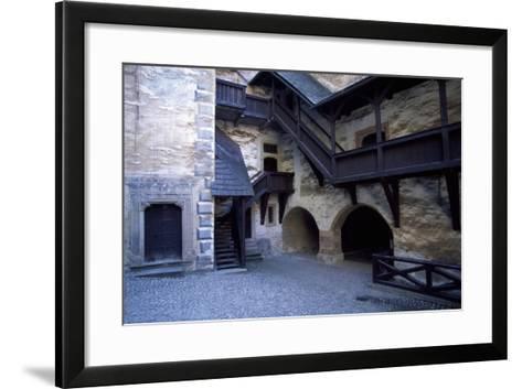 Courtyard of Orava Castle, Oravsky Podzamok, Zilina, Slovakia--Framed Art Print
