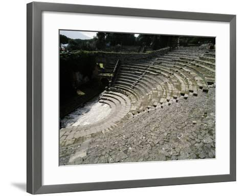 Italy, Pompeii, Small Theatre or Odeon, 1st Century B.C.--Framed Art Print