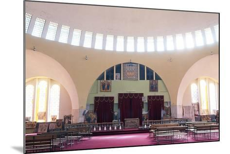 View of Interior of Church of Our Lady Mary of Zion, Axum, Tigray, Ethiopia--Mounted Giclee Print