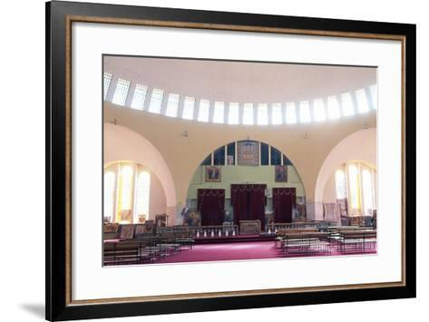 View of Interior of Church of Our Lady Mary of Zion, Axum, Tigray, Ethiopia--Framed Art Print