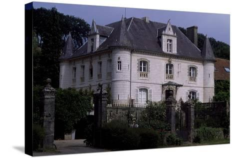 View of Chateau De Fief D'Herambault, 1845, Montcavrel, Nord-Pas De Calais, France--Stretched Canvas Print