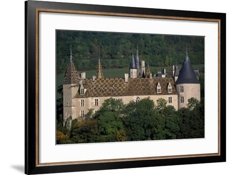 Chateau De La Rochepot, Burgundy, France, 13th-19th Century--Framed Art Print