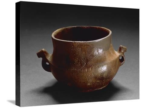 Decorated Two-Handled Vase, from Oliena, Province of Nuoro--Stretched Canvas Print