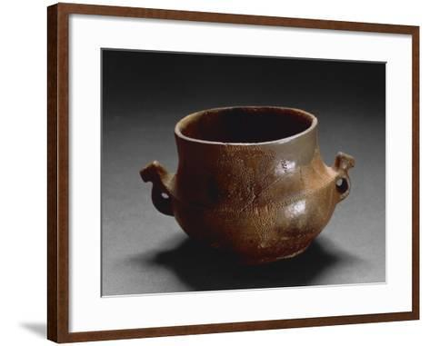 Decorated Two-Handled Vase, from Oliena, Province of Nuoro--Framed Art Print