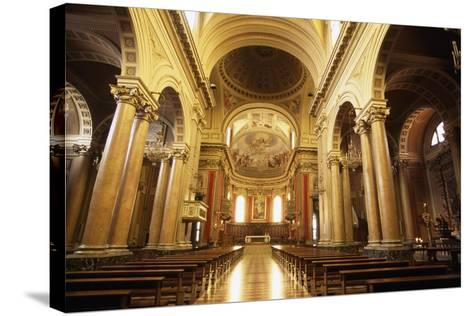 View of Nave of Cathedral of Macerata, Marche, Italy--Stretched Canvas Print