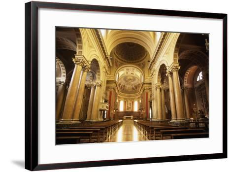View of Nave of Cathedral of Macerata, Marche, Italy--Framed Art Print