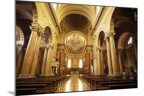 View of Nave of Cathedral of Macerata, Marche, Italy--Mounted Giclee Print