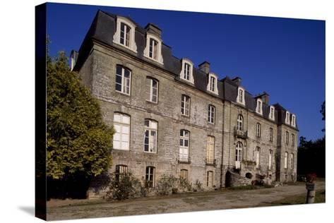 Rear Facade of Chateau De Tregranteur, Guegon, Brittany, France, 18th-19th Century--Stretched Canvas Print