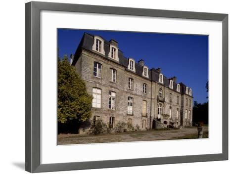 Rear Facade of Chateau De Tregranteur, Guegon, Brittany, France, 18th-19th Century--Framed Art Print