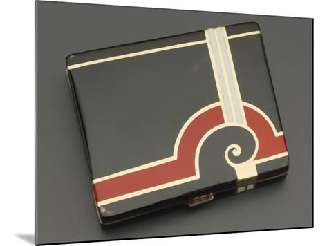 Embossed Silver Tiffany Cigarette Case with Gold Borders, 1930's Style--Mounted Giclee Print