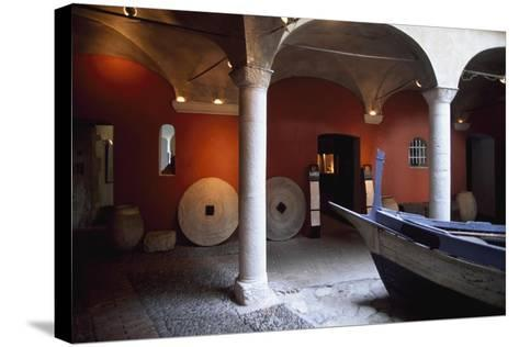 France, Chateau De Cagnes-Sur-Mer, Lower Gallery--Stretched Canvas Print