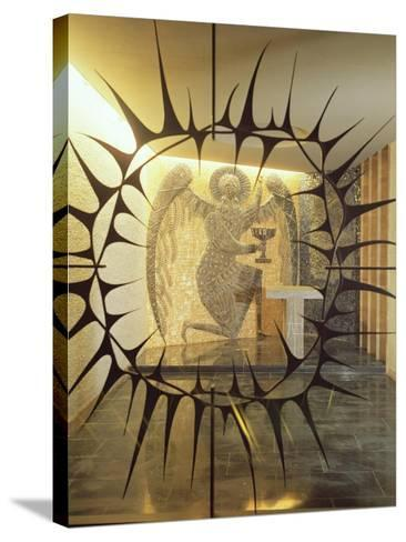 Coventry Cathedral - the Chapel of Christ in Gethsemane, Archangel with Three Sleeping Diciples--Stretched Canvas Print