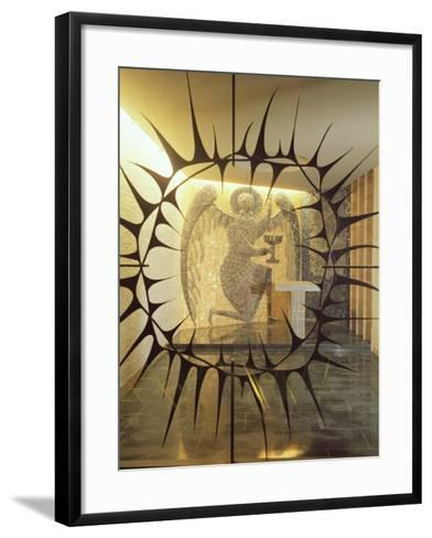 Coventry Cathedral - the Chapel of Christ in Gethsemane, Archangel with Three Sleeping Diciples--Framed Art Print