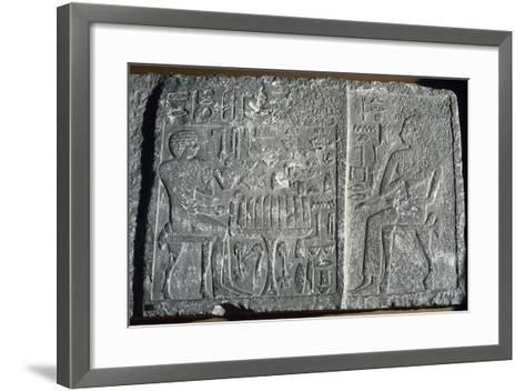 Relief Depicting the Deceased Itjer--Framed Art Print