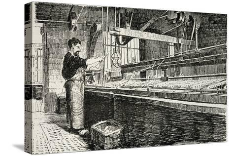Jewelry Laboratory from Revue De L'Expo Universelle, 1889--Stretched Canvas Print