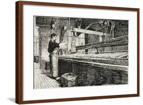 Jewelry Laboratory from Revue De L'Expo Universelle, 1889--Framed Art Print