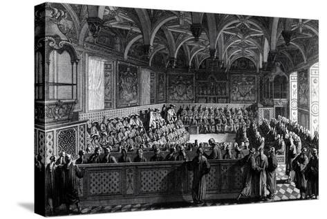 Special Session Held by Louis XVI at Palace of Justice in Paris, November 19, 1787, France--Stretched Canvas Print