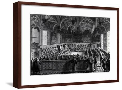 Special Session Held by Louis XVI at Palace of Justice in Paris, November 19, 1787, France--Framed Art Print