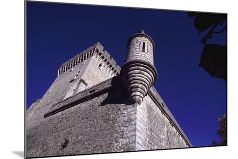 View of Chateau De Aulan, Rhone-Alpes, France, 12th Century--Mounted Giclee Print