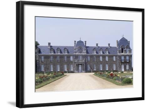 Chateau De Caradeuc's South Facade, Near Plouasne, Brittany, France, 18th-19th Century--Framed Art Print