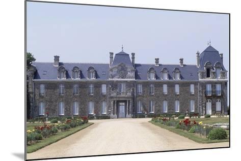 Chateau De Caradeuc's South Facade, Near Plouasne, Brittany, France, 18th-19th Century--Mounted Giclee Print