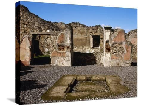Italy, Pompeii, the House of Adonis, Atrium--Stretched Canvas Print