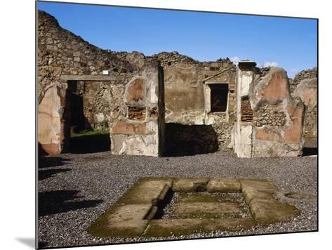 Italy, Pompeii, the House of Adonis, Atrium--Mounted Giclee Print