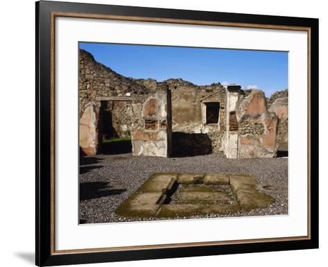 Italy, Pompeii, the House of Adonis, Atrium--Framed Art Print
