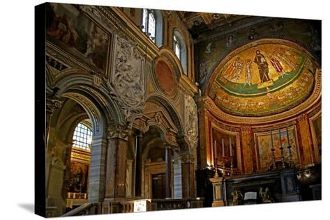 East End of the Nave and Apse with Christ, Saints and Pope Gregory Iv--Stretched Canvas Print