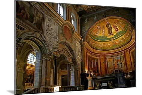 East End of the Nave and Apse with Christ, Saints and Pope Gregory Iv--Mounted Giclee Print