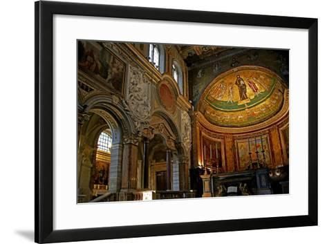 East End of the Nave and Apse with Christ, Saints and Pope Gregory Iv--Framed Art Print