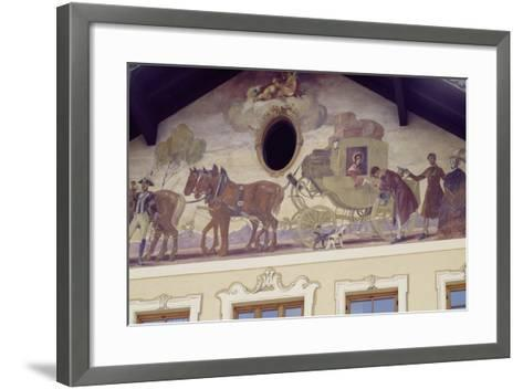 Decorated Facade of House in Reutte, Tyrol, Austria--Framed Art Print