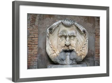 Head as Fountain--Framed Art Print