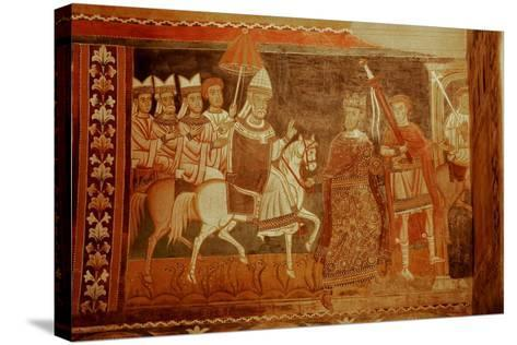 Pope Sylester Returns: Scene from the Life of Emperor Constantine and St Sylvester--Stretched Canvas Print