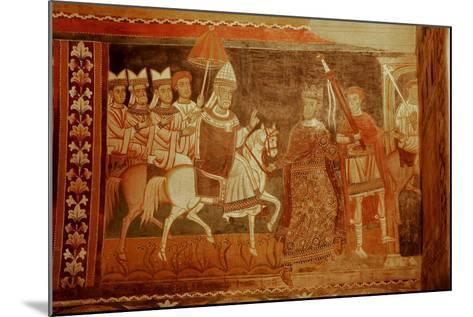 Pope Sylester Returns: Scene from the Life of Emperor Constantine and St Sylvester--Mounted Giclee Print