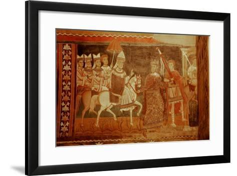 Pope Sylester Returns: Scene from the Life of Emperor Constantine and St Sylvester--Framed Art Print