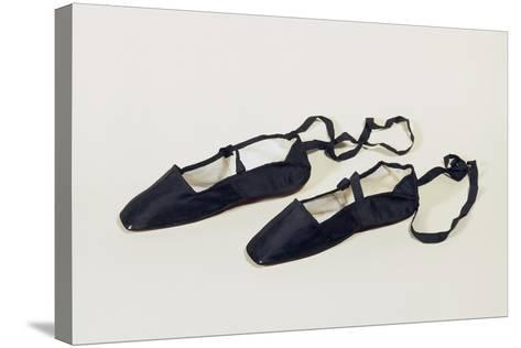 Women's Ankle Strap Shoes with Silk Satin Upper--Stretched Canvas Print