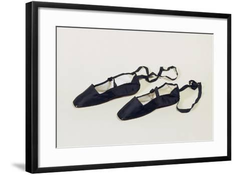 Women's Ankle Strap Shoes with Silk Satin Upper--Framed Art Print
