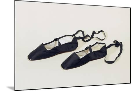 Women's Ankle Strap Shoes with Silk Satin Upper--Mounted Giclee Print