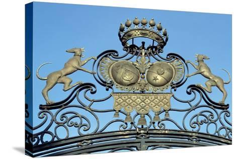 Crest on Gate of Chateau De Jossigny, Ile-De-France, Detail, France--Stretched Canvas Print
