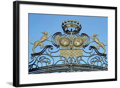 Crest on Gate of Chateau De Jossigny, Ile-De-France, Detail, France--Framed Art Print